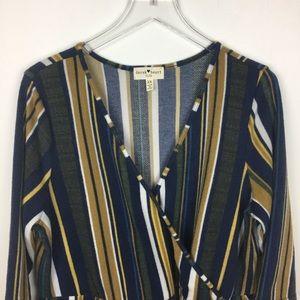 Derek Heart Striped Dress | Size 2X